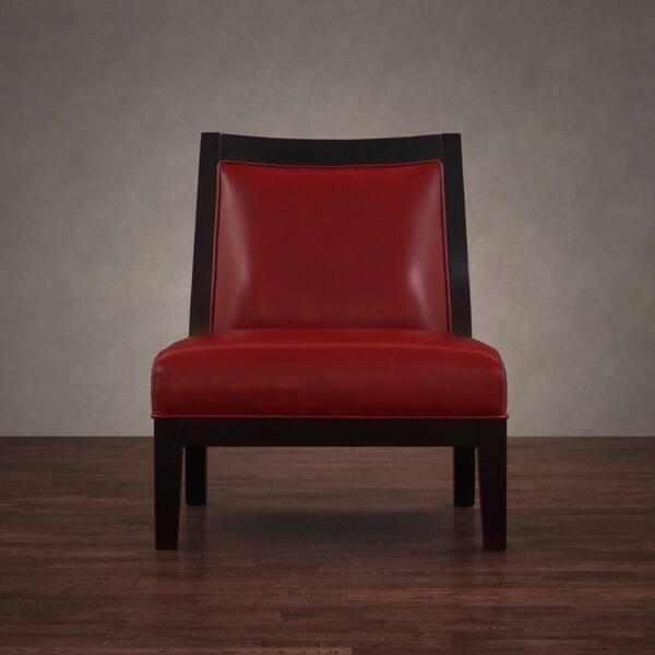 Cool Shop Connor Burnt Red Leather Chair Free Shipping Today Inzonedesignstudio Interior Chair Design Inzonedesignstudiocom