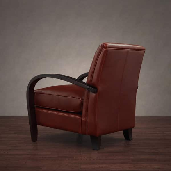 Fine Shop Bloomington Leather Chair Cognac Free Shipping Today Creativecarmelina Interior Chair Design Creativecarmelinacom