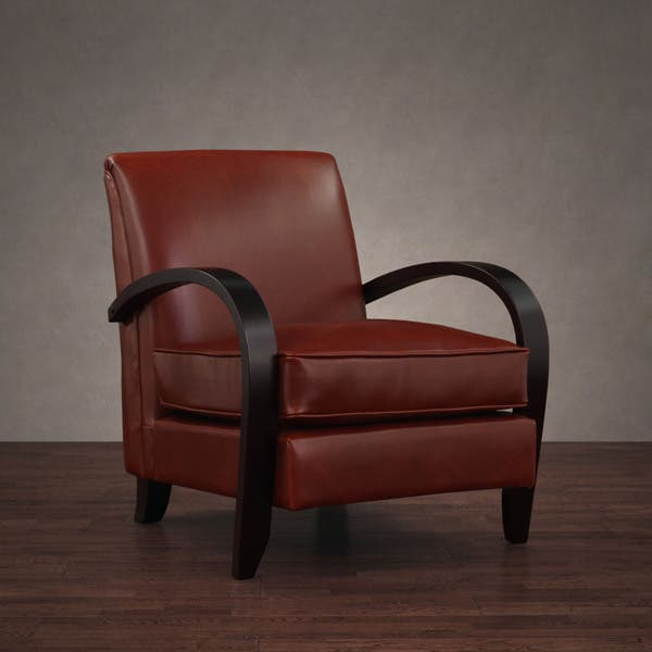 Marvelous Shop Bloomington Leather Chair Cognac Free Shipping Today Creativecarmelina Interior Chair Design Creativecarmelinacom