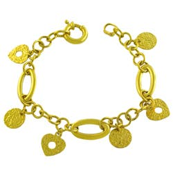 Fremada 14k Yellow Gold Etruscan Charm Bracelet (7.5-inch)|https://ak1.ostkcdn.com/images/products/4325366/Fremada-14k-Yellow-Gold-Etruscan-Charm-Bracelet-P12300772.jpg?impolicy=medium