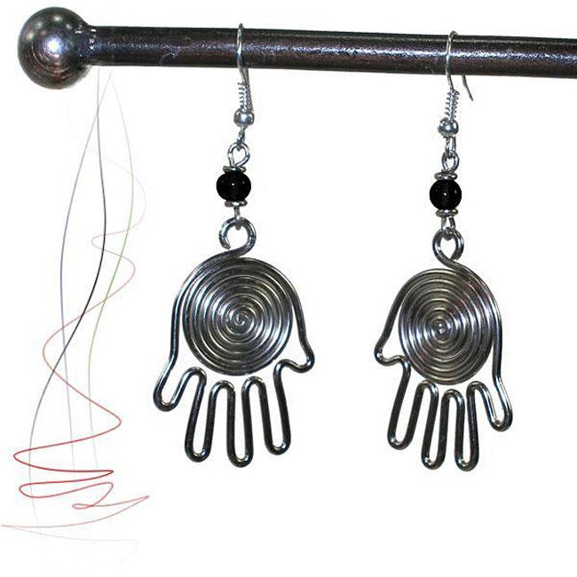 Silverplated Copper Helping Hands Earrings (Kenya)
