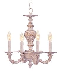 Crystorama Sutton 4-light Antique White Mini Chandelier