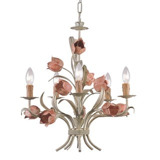 Crystorama Wrought Iron 5-light Chandelier