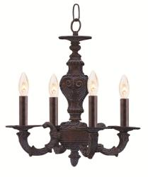 Crystorama Venetian Bronze Four-light Chandelier