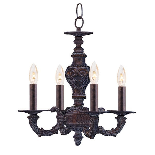 Venetian Bronze Chandelier: Shop Crystorama Venetian Bronze Four-light Chandelier