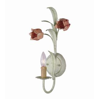 Crystorama Sage and Rose Wall Sconce Light Fixture