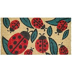 Lady Bugs Hand Woven Coir Doormat 18' x 30'