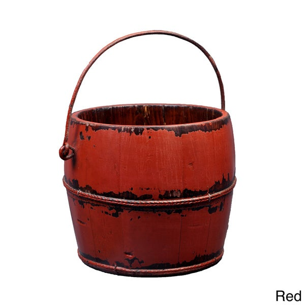 Asian Antique Iron-handle Kitchen Bucket