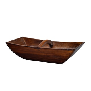 Stained Boat Tray with Handle