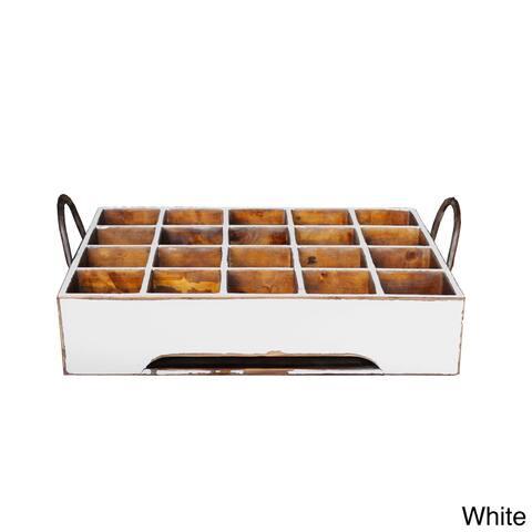 """Antiqued Stain Milk Crate - 21""""l x 15""""w x 4""""h"""