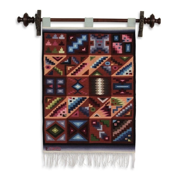 Handmade 'Calendar in Sun and Shade' Wool Tapestry (Peru)