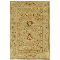 Safavieh Handmade Majesty Light Brown/ Beige Wool Rug - 2' x 3'