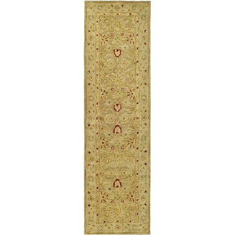 Safavieh Handmade Majesty Light Brown/ Beige Wool Runner Rug - 2'3 x 16'
