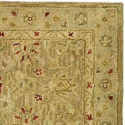 Safavieh Handmade Majesty Light Brown/ Beige Wool Runner (2'3 x 12') - Thumbnail 1
