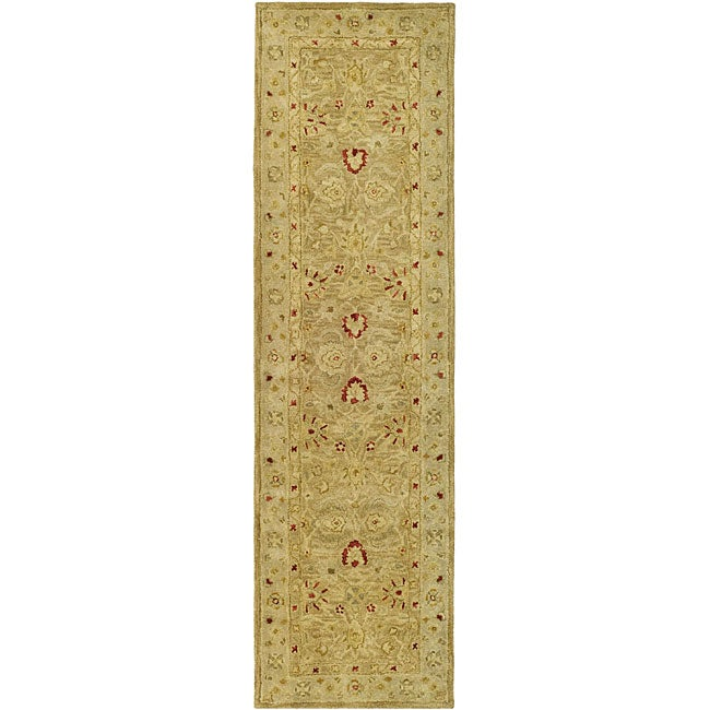 Safavieh Handmade Majesty Light Brown/ Beige Wool Runner (2'3 x 14')