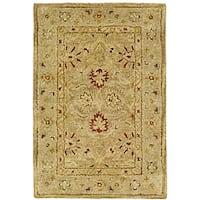 Safavieh Handmade Majesty Light Brown/ Beige Wool Runner Rug - 2'3 x 4'