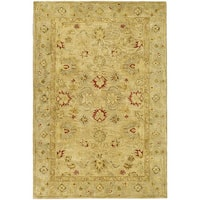 Safavieh Handmade Majesty Light Brown/ Beige Wool Rug - 3' x 5'