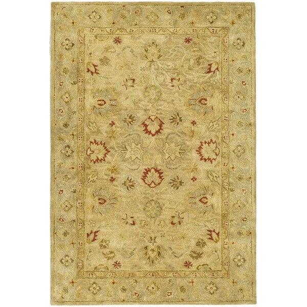Safavieh Handmade Majesty Light Brown/ Beige Wool Rug - 4' x 6'