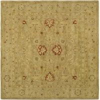 Safavieh Handmade Majesty Light Brown/ Beige Wool Rug (6' Square) - 6' Square