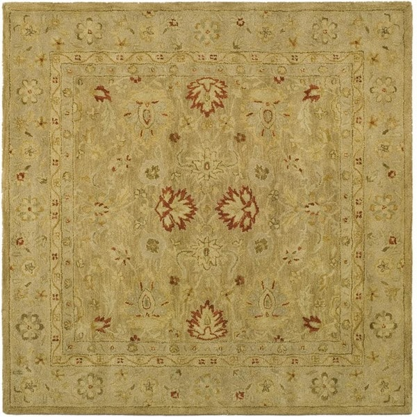 Safavieh Handmade Majesty Light Brown/ Beige Wool Rug (6' Square)
