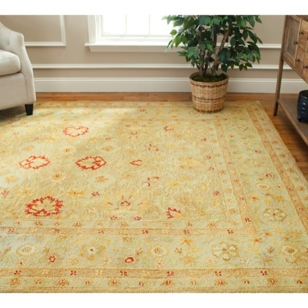 Safavieh Handmade Majesty Light Brown/ Beige Wool Rug - 7'6 x 9'6