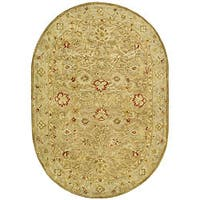 "Safavieh Handmade Majesty Light Brown/ Beige Wool Rug - 7'6"" x 9'6"" oval"