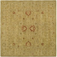 Safavieh Handmade Majesty Light Brown/ Beige Wool Rug - 8' x 8' Square