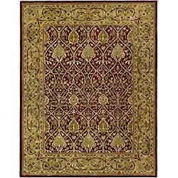 Safavieh Handmade Mahal Red/ Gold New Zealand Wool Rug (5' x 8')