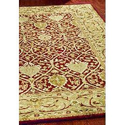 Safavieh Handmade Mahal Red/ Gold New Zealand Wool Rug (7'6 x 9'6) - Thumbnail 1