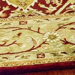 Safavieh Handmade Mahal Red/ Gold New Zealand Wool Rug (7'6 x 9'6) - Thumbnail 2