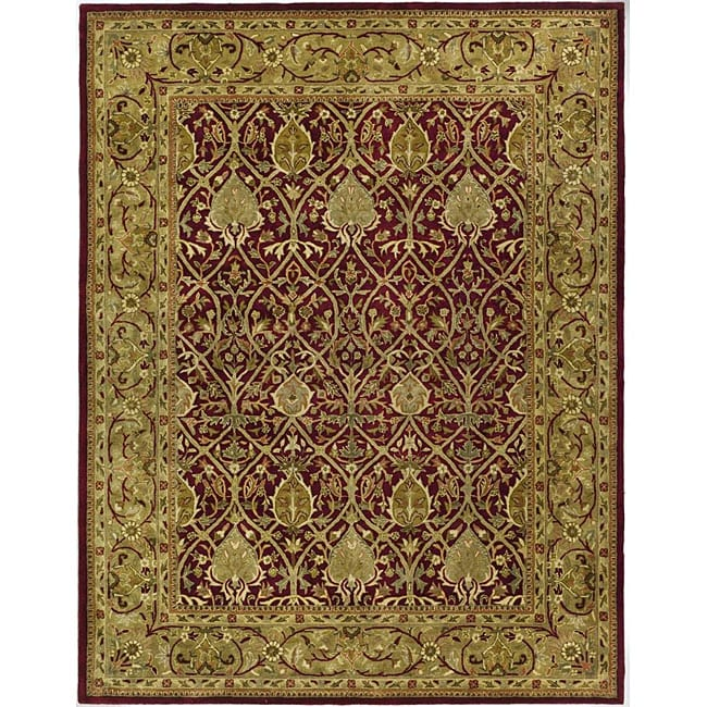Safavieh Handmade Mahal Red/ Gold New Zealand Wool Rug - 8'3 x 11'