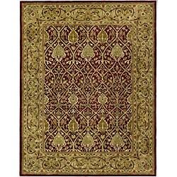 Safavieh Handmade Mahal Red/ Gold New Zealand Wool Rug - 8'3 x 11' - Thumbnail 0