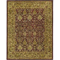 "Safavieh Handmade Mahal Red/ Gold New Zealand Wool Rug - 8'3"" x 11'"