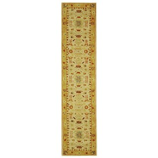 Safavieh Handmade Tribal Ivory/ Gold Wool Runner (2'3 x 20')