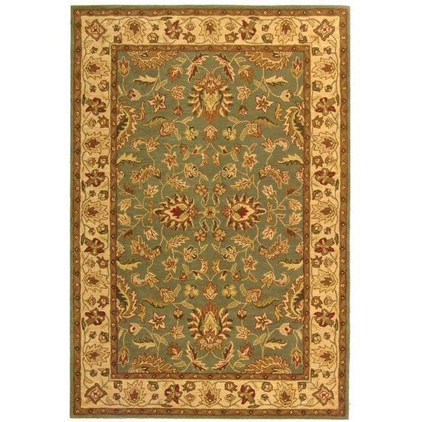 Safavieh Handmade Heritage Timeless Traditional Blue/ Beige Wool Rug - 8'3 x 11'