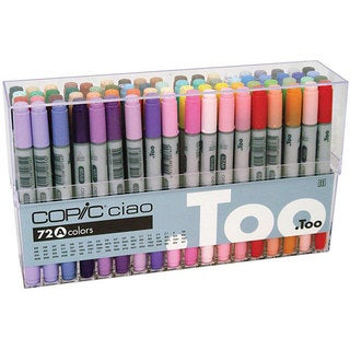 Copic Ciao 72-piece Double-ended Marker Set