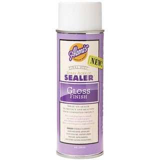 Aleene 39 s gloss 6 oz acrylic sealer spray free shipping for Waterproof acrylic sealer for crafts