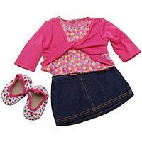 Springfield Collection Skirt/ Top Blue Denim Set for Dolls