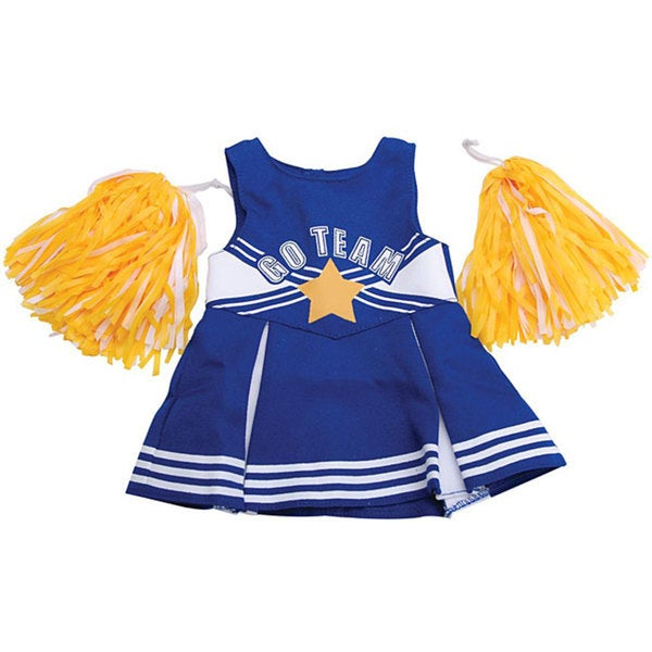 Springfield Collection Blue/ White Cheerleader 18-inch Doll Outfit