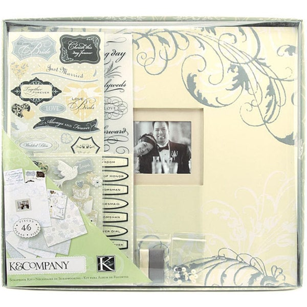 K&Company Classic Wedding Boxed 12x12 Postbound Scrapbook Kit