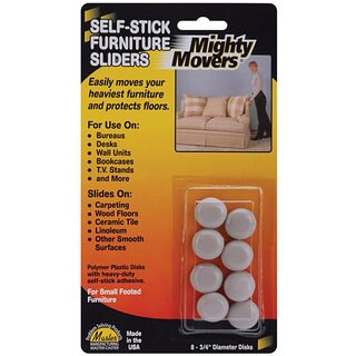 Shop Mighty Movers Self Adhesive Furniture Sliders Pack