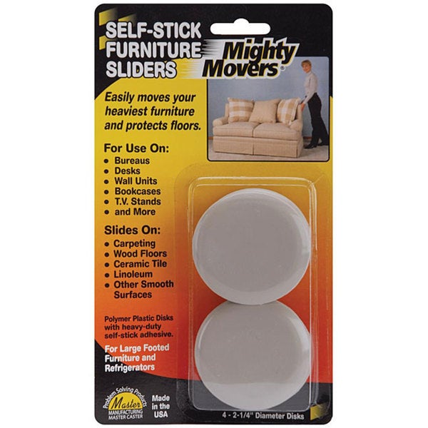Mighty Movers Self-stick Furniture Sliders (Pack of 4)