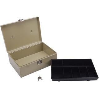 Metal Cash Box with Locking Latch