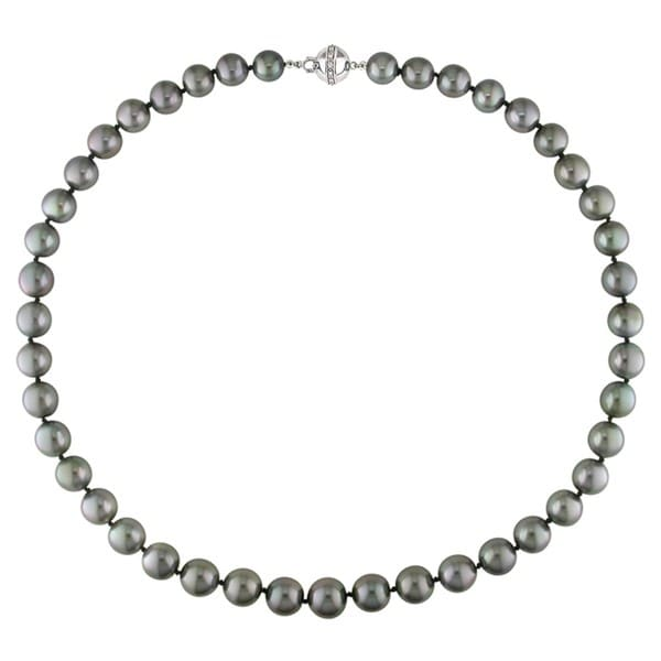 Miadora 14k Gold Cultured Tahitian Pearl 18-inch Strand (8-11mm)