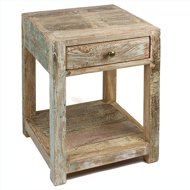 handmade end tables shop handmade stripped teak end table india free 5866