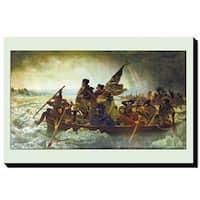Leutze 'Washington Crossing the Delaware' Giclee Canvas Art