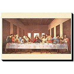 Leonardo DaVinci 'Last Supper' Giclee Canvas Art