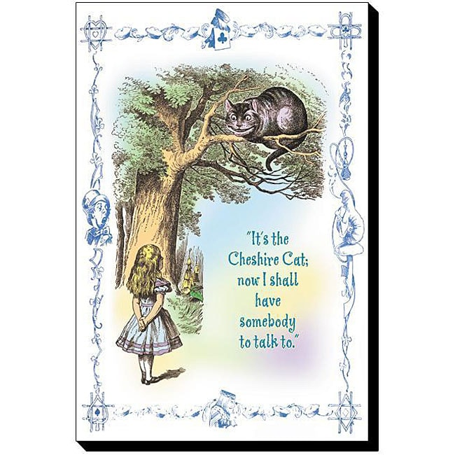 Tenniel 'Alice in Wonderland: It's the Cheshire Cat' Canvas Art ...