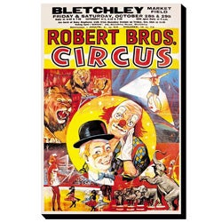 'Robert Brothers' Circus at Bletchley Market Field' Canvas Art