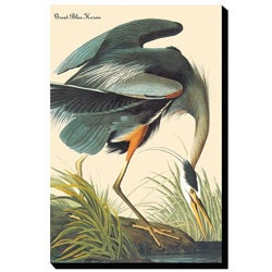 Auaubon 'Great Blue Heron' Giclee Canvas Art